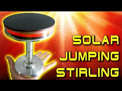 СОЛНЕЧНЫЙ ДВИГАТЕЛЬ СТИРЛИНГА SOLAR JUMPING STIRLING ENGINE Free Piston  ИГОРЬ БЕЛЕЦКИЙ