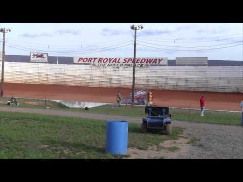 Port Royal Speedway 410 Sprint Car Highlights 4-18-15