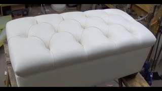 DIY: TUFTED BENCH WITH STORAGE SPACE - ALO Upholstery
