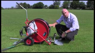 Travelling Sprinkler For Watering Sports Pitches