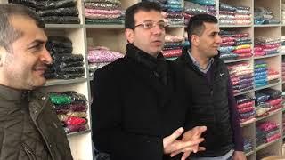 Ekrem İmamoğlu'nun İstanbul Güngören esnaf ziyareti
