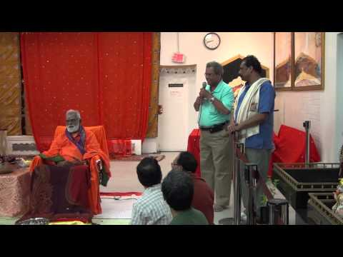 Courtallam Swamiji NJ SaiMandir 101914 04 ClosingRemarks Felicitation