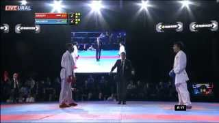 Magdy Hanafy (EGY) - Rafiz Hasanov (AZE) Gold medal fight Karate1 Premier League, Tyumen 2013