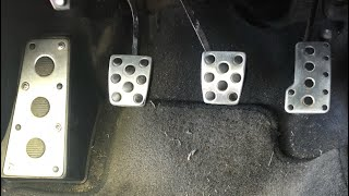 Corolla XRS sport pedal install from Celica GT-S