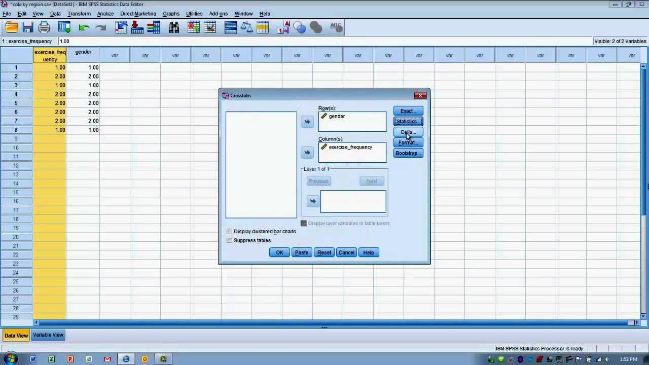 Z Fisher Spss How to Use SPSS-Fisher s Exact