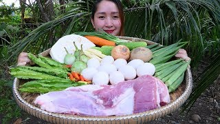 Yummy Fish Egg Past Steam Pork - Fish Egg Past Steaming Recipe - Cooking With Sros