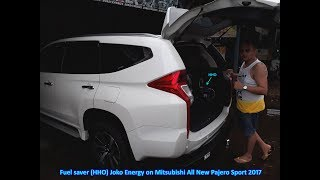 Fuel saver HHO Joko Energy on Mitsubishi All New Pajero Sport Dakar 2017 (9th)