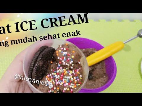 Cara Buat Es Krim Paling Mudah dan Sehat - DIY Ice Cream Dari Pisang - Cara Buat Ice Cream Milo