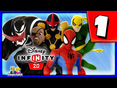 Disney Infinity 2.0 Spider-Man Walkthrough Part 1 (Ultimate Spider Friends) Spiderman Play Set