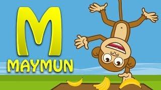 M Harfi - ABC Alfabe SEVİMLİ DOSTLAR Eğitici Çizgi Film Çocuk Şarkıları Videoları