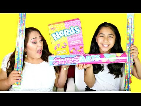 Giant Candy Nerds Sweet Tarts Sour Candy Necklace!!!B2cutecupcakes