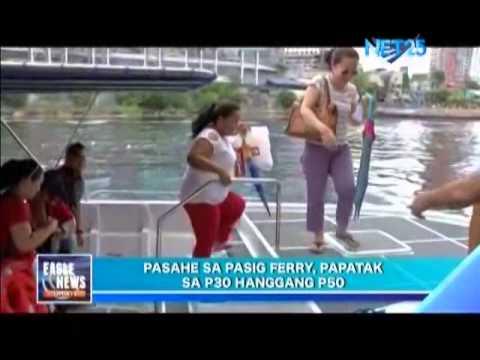 MMDA releases fare matrix for Pasig River ferry