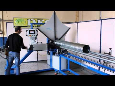 DFC Makine Yuvarlak Kanal Makinesi Spiral Boru Makinesi