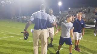 Marcus Lattimore reacts to first win as Heathwood Hall coach
