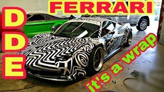 Daily Driven Exotics Ferrari 458 GT getting wrapped DDE