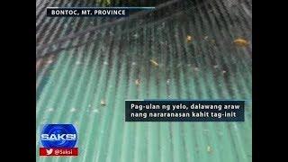 Saksi: Pag-ulan ng yelo, 2 araw nang nararanasan sa Bontoc, Mt. Province kahit tag-init