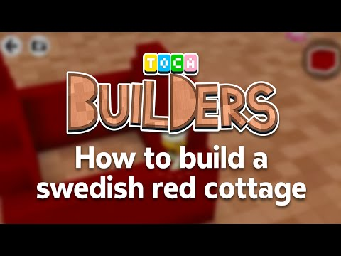Toca Builders App Walkthrough : How to build a Swedish red cottage in Toca Builders