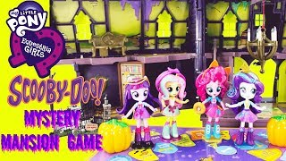 MY LITTLE PONY Equestria Girls Scooby Doo Mystery Mansion GAME TOY SURPRISES