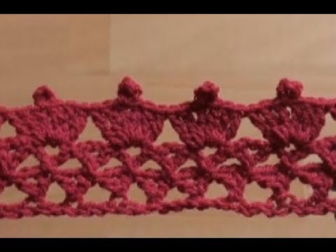 ... to Crochet the Edge / Border Stitch P #9 by ThePatterfamily - YouTube