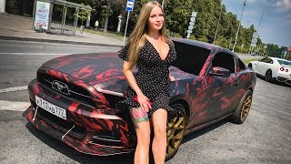 ПОГОНЯ: SLS AMG vs GT-R. Соня и MUSTANG. ЗАЗ в деле. RRS и SUBARU WRX STi. FORD. NISSAN. Mercedes.