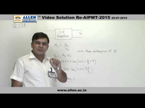 AIPMT 2015 Re-Exam Physics Solution – Q. No. 173 (Paper Code-A)