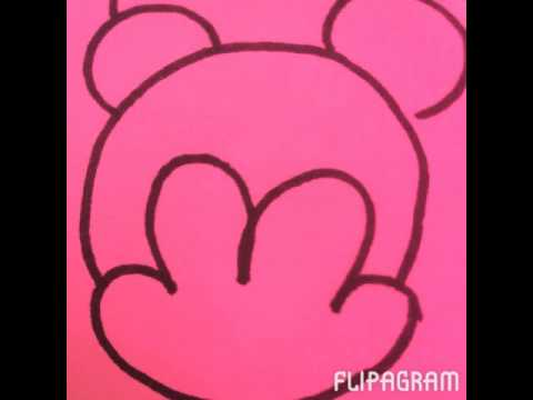 Comment dessiner mickey et minnie facilement youtube - Dessiner mickey ...