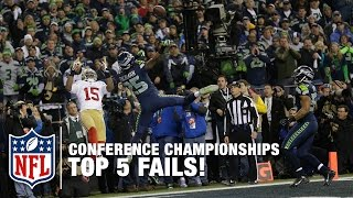 Top 5 Fails in NFC/AFC Championship Game History | NFL