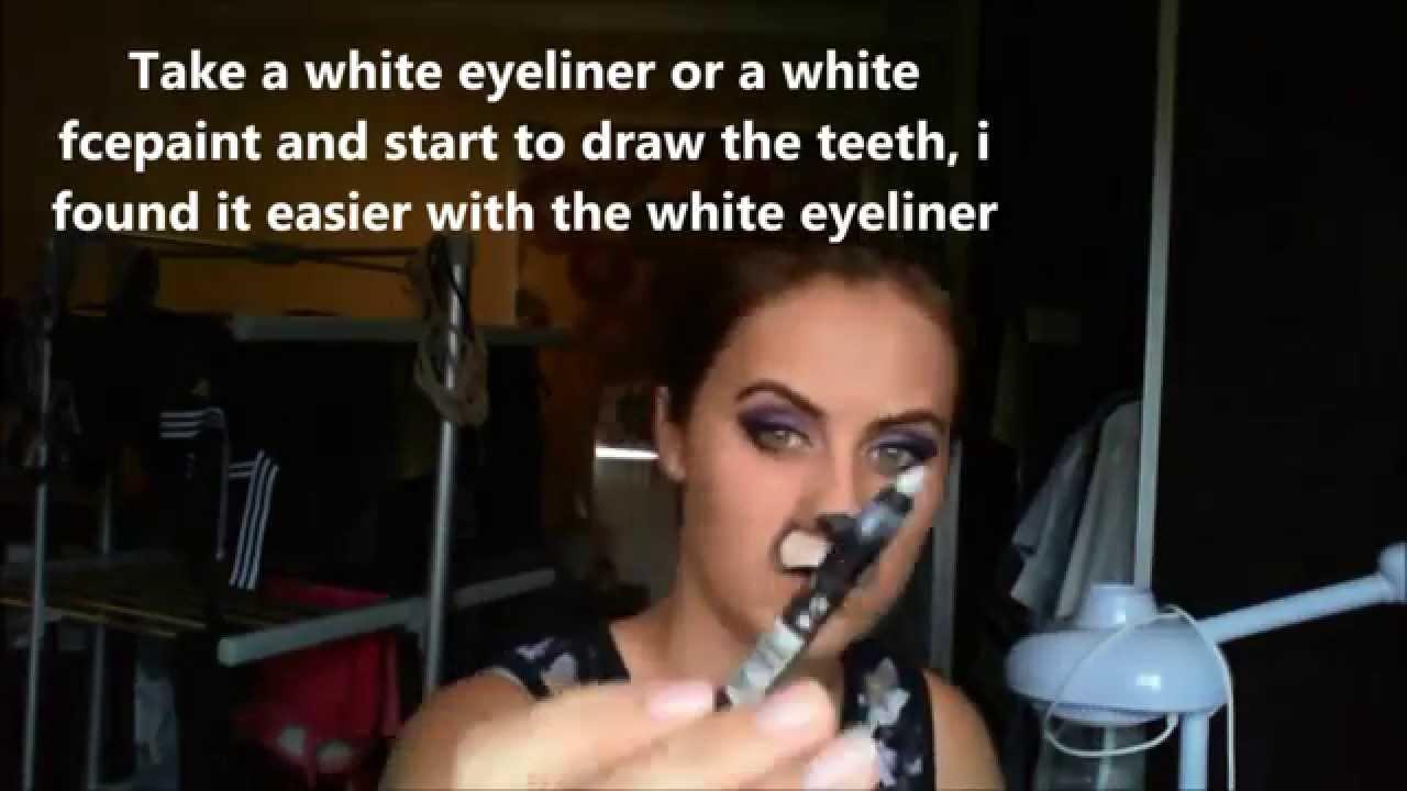 Bunny Rabbit Halloween Face Makeup Scary Rabbit/bunny Makeup