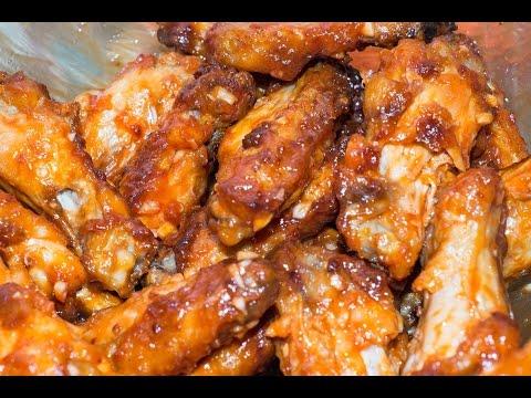 Хрустящие куриные крылья в сладкой глазури