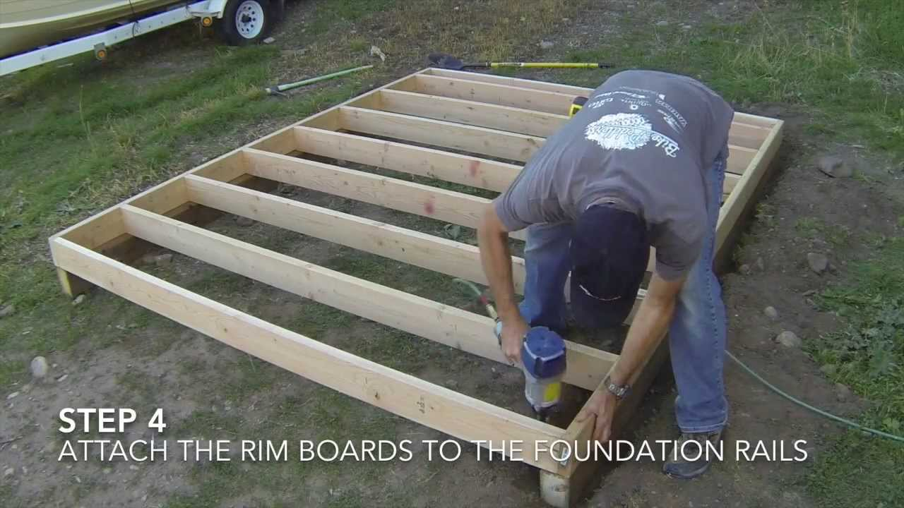 How to build a shed part 2 floor framing youtube for Garden shed floor ideas