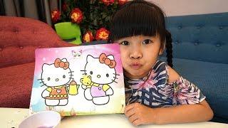 Trò Chơi Bé Bún Tô Màu Tranh Cát Hello Kitty