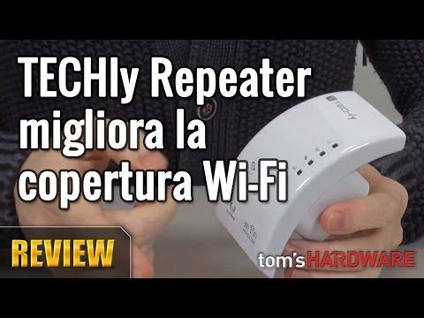 TECHly Repeater Wi-Fi. migliora la copertura Wi-Fi
