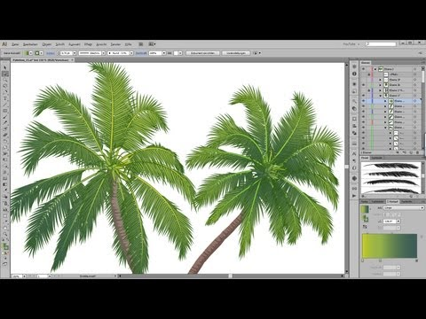 How to draw a palm tree in Adobe Illustrator