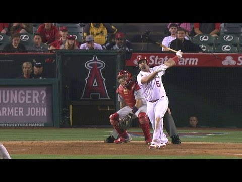 STL@LAA: Pujols pulls Angels within two with homer
