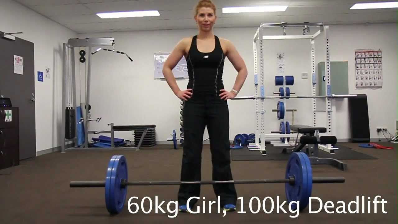 60kg Girl 100kg Deadlift - YouTube