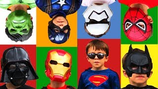 Superheroes Learn Colors Song  Nursery Rhymes in Real Life for Kids and Toddlers