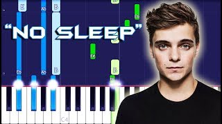 Martin Garrix feat. Bonn - No Sleep Piano Tutorial EASY (Piano Cover)