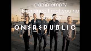 OneRepublic No Vacancy Lyric Video