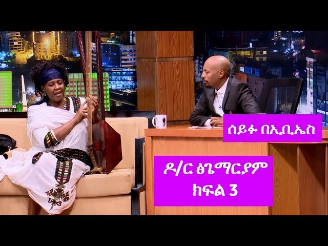 Seifu on EBS: Interview With American Citizen Dr. Tsigemariam Part 3