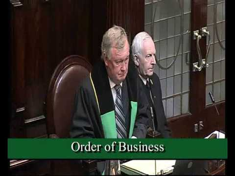 Labour Leader Eamon Gilmore questions Minister for Transport