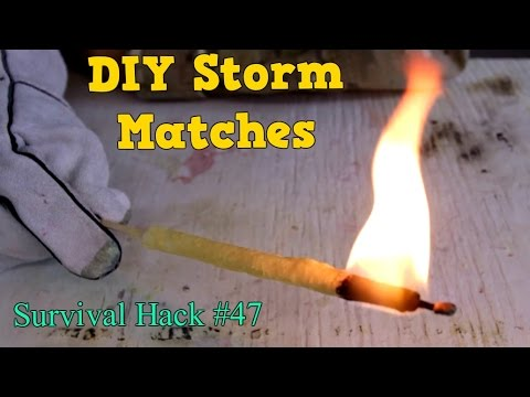 Ultimate DIY Storm Matches - Survival Hack