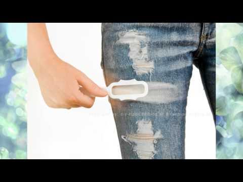Как сделать потёртости на джинсах в домашних условиях видео