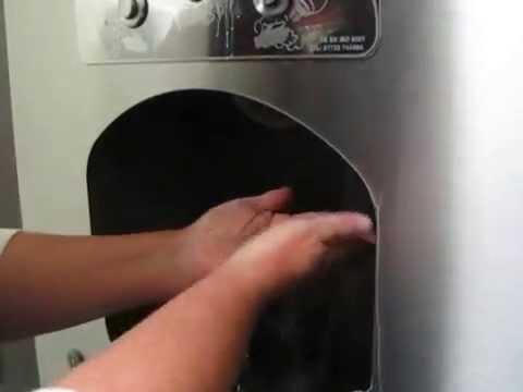 hand washing station in an Irish Supermac