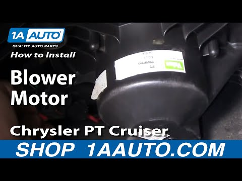 How To Install Replace AC Heater Fan Blower Motor Chrysler PT Cruiser 01-05 1AAu