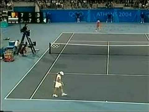 Justine Henin vs Anastasia Myskina Athens 2004 Semi 15/17
