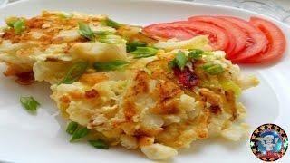 Цветная Капуста с Яйцами на Сковороде