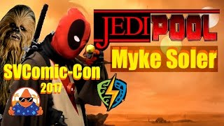 JEDIPOOL COMIC-CON Cosplay MashUp Jedi & Deadpool  SVCC Cosplay Contest - Myke Soler