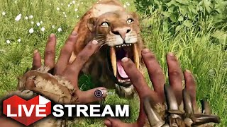 Far Cry Primal Gameplay | Taming EVERY Animal + RARE BEASTS | Livestream (Part 2)