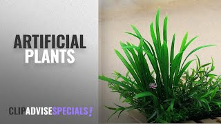 Top 10 Artificial Plants [2018]: Aquarium Decoration Artificial Plastic Underwater Plant- Sold By