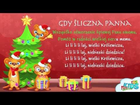 Gdy Śliczna Panna - Polskie Kolędy + Tekst (karaoke)